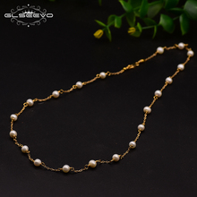 XlentAg Original Design Natural Fresh Water Handmade Pearl Necklace For Women Wedding Engagement Fine Jewelry GN0086