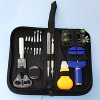 A Set Practical Watch Band Repair Tool Table Kit Case Opener Screwdriver Knife with Packing Hand Bag for Watch