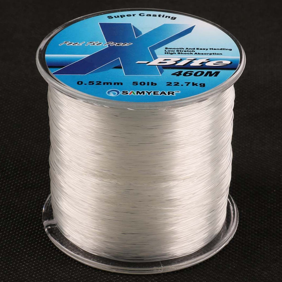 460m 50lb 0.52mm Super Strong Nylon Fishing Line Rope Clear White Jip Carp Fish Line Wire Material From Japan Monofilament Line