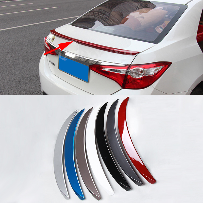 Car Styling ABS Material Roof Spoiler Without The Paint Auto Decoration External Decoration For Toyota Corolla 2014-2016 car styling abs material roof spoiler without paint for mazda axela 2013 2014 2015 high quality auto decoration accessories