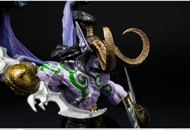 Game Wow Demon Hunter illidan Stormrage PVC Action Figure Toys 5