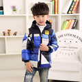 2016 Boy Down Jacket New Winter Coat Boy Snowsuit Children Parka Boy Winter Plaid Jackets School Clothing Winter Girl Warm Coats