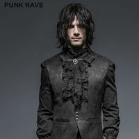 Punk Rave Gothic Victorian Steampunk Jabot Ruffle Neck Tie Vintage Pin Up Ac Ties for Men