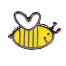 imixlot Hot Sale Cartoon Cute 1 PCS Little Bee Enamel Pin Badge Creative Animals Brooches For Women Men Decoration Pins Jewelry