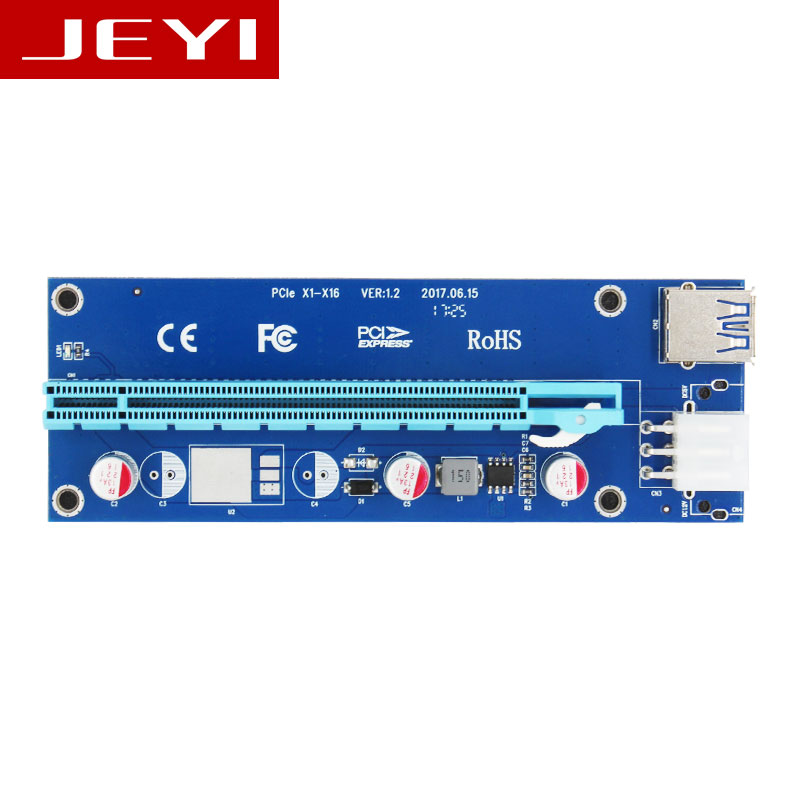 JEYI x1-x16 Riser PCI-E pcie PCI-Express PCIExpress 1x To 16x Extension Flex Cable Extender Converter Card Adapter 5A high Power 100pcs lots pci e express 1x slot riser card extender extension ribbon flex relocate cable 20cm by ups dhl tnt