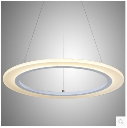 1 Ring 20cm   LED Acrylic Annular Sitting Room Lamp Droplight Contracted And Contemporary Bedroom Restaurant  110-240v 1 pc contemporary and contracted sitting room led copper dome light in the kitchen