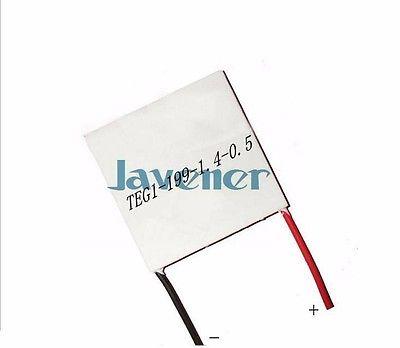 40x40mm 12V 15A Heatsink Thermoelectric Peltier Power Generation Plate  Refrigeration Module TEG1-199-1.4-0.5