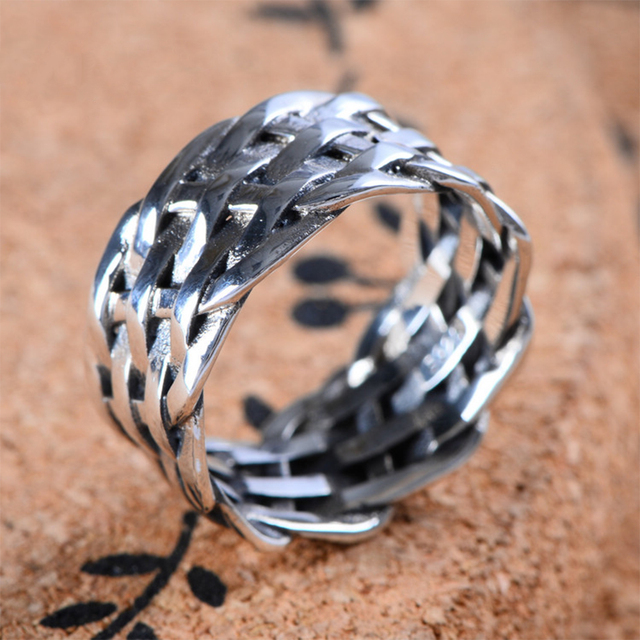 brixini.com - 925 Sterling Thai Silver Woven Ring