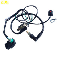High Performance Motorbike Kill Switch + Coil + CDI Wire + Spark plug For 110cc 125cc Dirt Pit Bike ATV Kart Buggy Bike QUAD