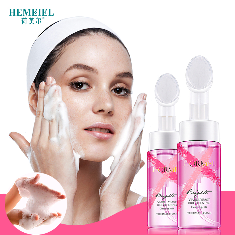 HEMEIEL Viable Yeast Foam Face Wash Moisturzing Whitening Exfoliator Skin  Care Soft Massage Brush Face Cleanser 7b01163aad9