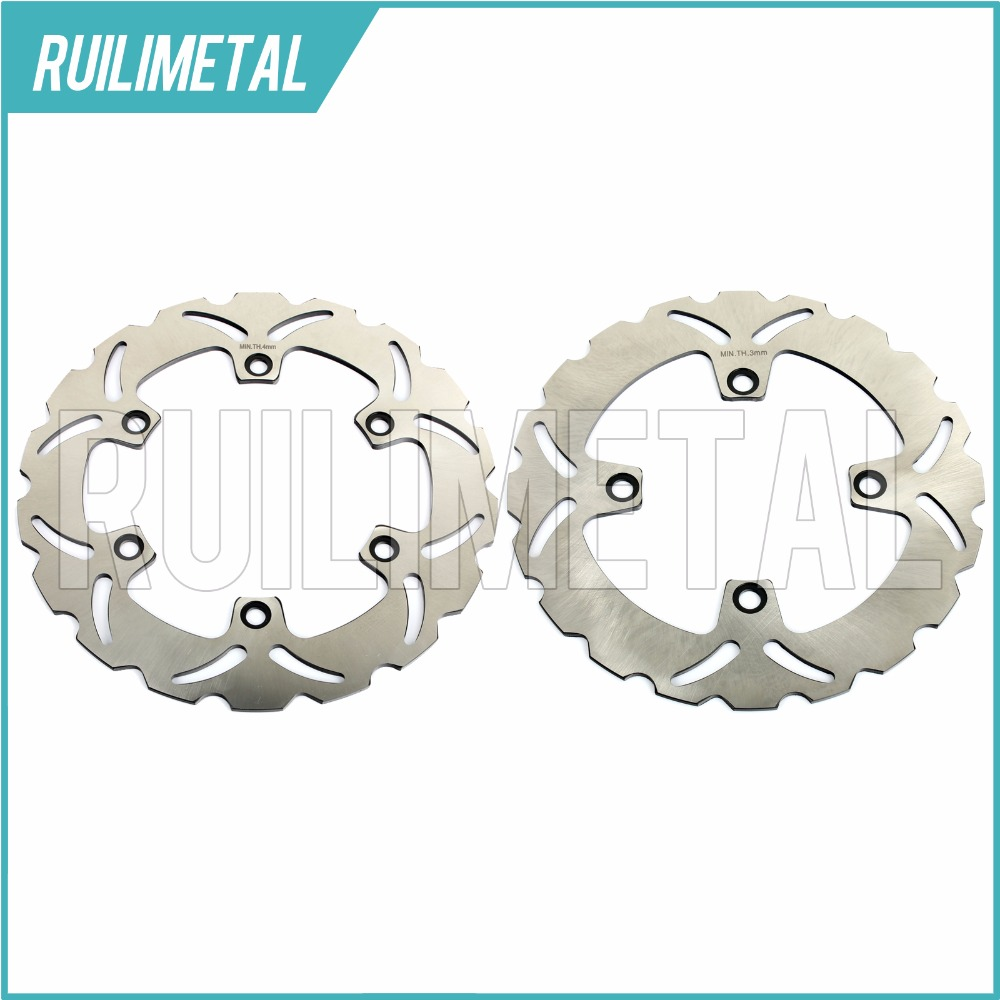 Full Set Front Rear Brake Discs Rotors for HONDA XLV TRANSALP 600 91 92 93 94 95 96 97 98 99 SILVER WING ABS Scooter 600 03-07 full set front rear brake discs rotors for honda nx dominator 650 88 89 90 91 92 1988 1989 1990 1991 1992 xr l 650 93 12