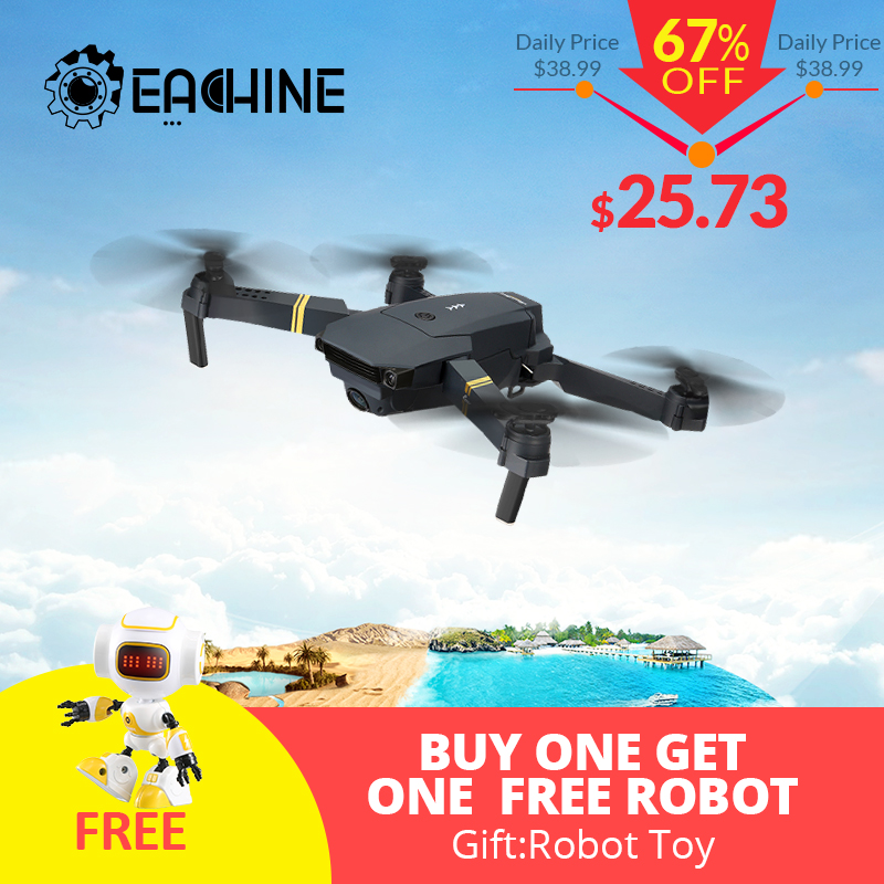 Eachine E58 WIFI FPV With Wide Angle HD Camera High Hold Mode Foldable Arm RC Quadcopter Drone RTF VS VISUO XS809HW JJRC H37 пропеллеры eachine для e58 each 798063