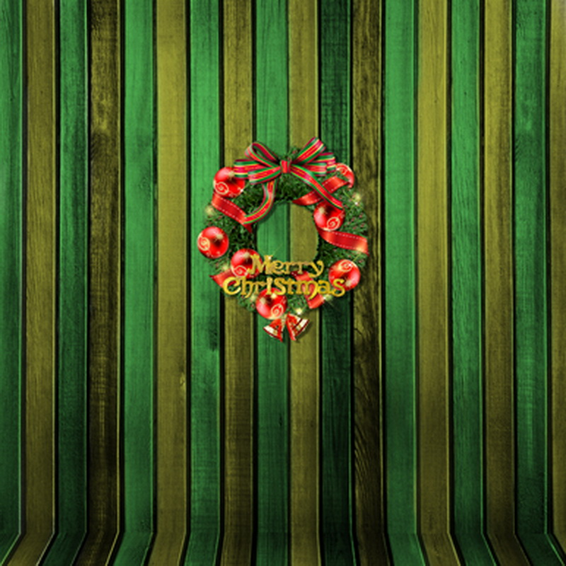 10x10FT Indoor Colorful Green Olive Wooden Wall Merry ...