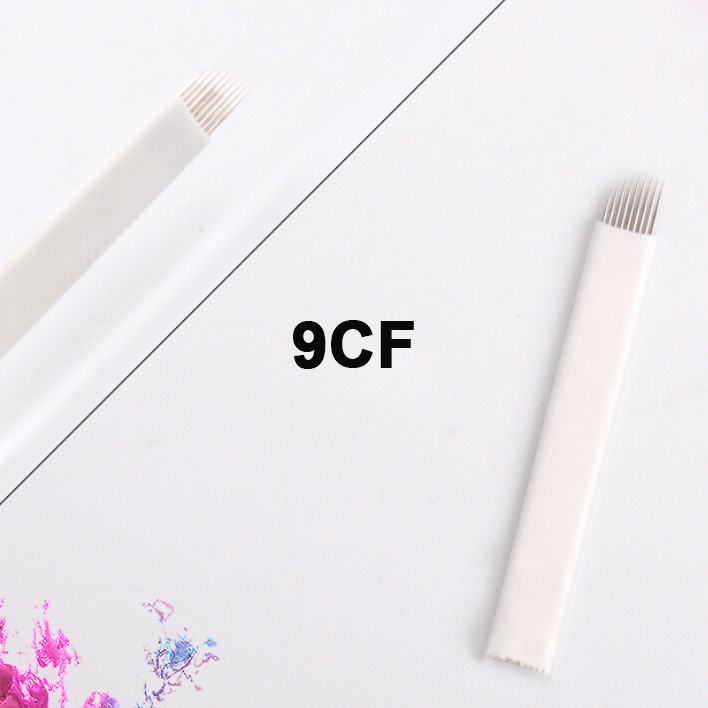100pcs 9CF Microblading Needles Accessories Makeup artist tools 3D Eyebrow Tattoo Needles Sterilizer microblades for Manual Pen 13