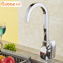 Luxury Chrome Kitchen Sink Faucet Water Mixer Kitchen Accessories Copper Paint Single Handle Antique kitchen Mixer Cobbe SW-5569