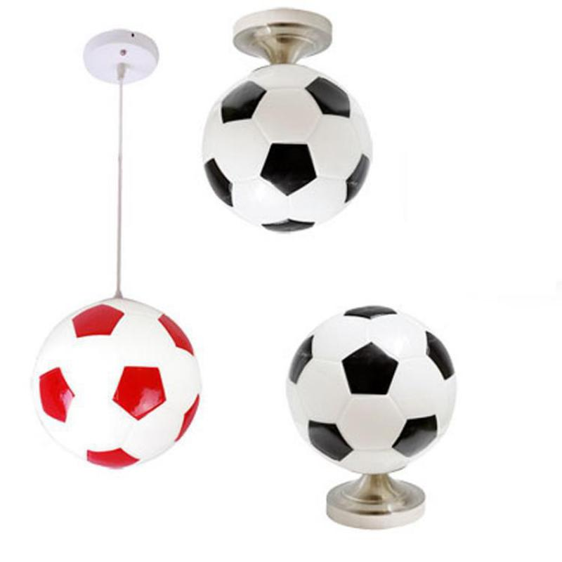 Free Shipping Modern Minimalist Football Creative Children Bedroom Lamp Chandelier Lamp Light Fixtures Chandeliers