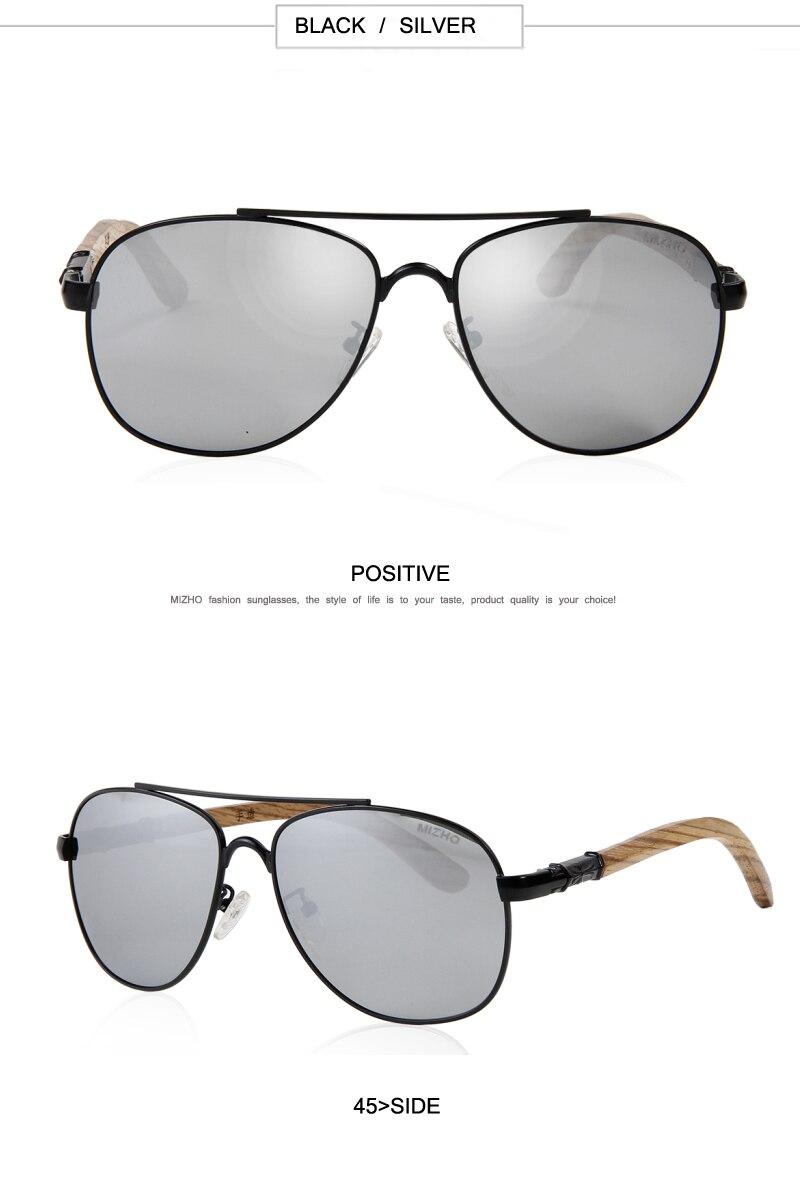 HD Polarized Visual Protection Unisex Wood Sunglass