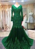 Темно зеленый пикантные вечерние платья 2019 открытой спиной v образным вырезом в пол без рукавов блесток длинное вечерние платья Robe de soiree