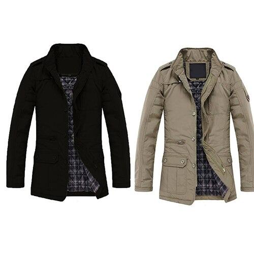 Men Winter Casual Long Sleeve Stand Collar Outwear...
