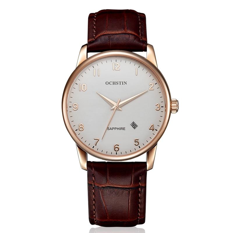 Ochstin marca de lujo simple cuarzo negocios relojes hombres Militar moda de  cuero ocasional reloj masculino Relogio masculino a 90427f550abe