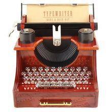 Retrol Exquisite Quality Typewriter Music Box for Home Office Mechanical Decoration Kids Retro New