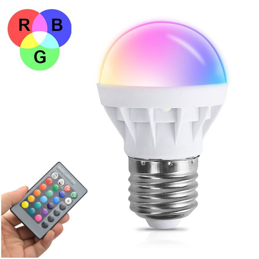 New Arrival E27 3w Rgb Led Bulb Light Led Lamp With Ir Remote Controller Free Shipping In Led