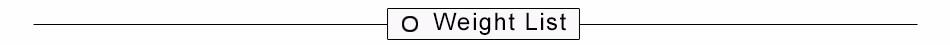 weight list