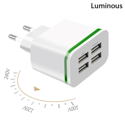 5 v 3A 4 Port USB Charger for iphone 6 7 samsung huawei xiaomi meizu sony lg g5 universal chargers quick charge EU plug adapter