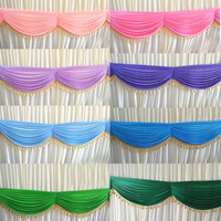 20 ft DIY tassel Table Swags for Wedding Event Party Backdrop Detachable Banquet baby shower valentines day Decor curtain swags