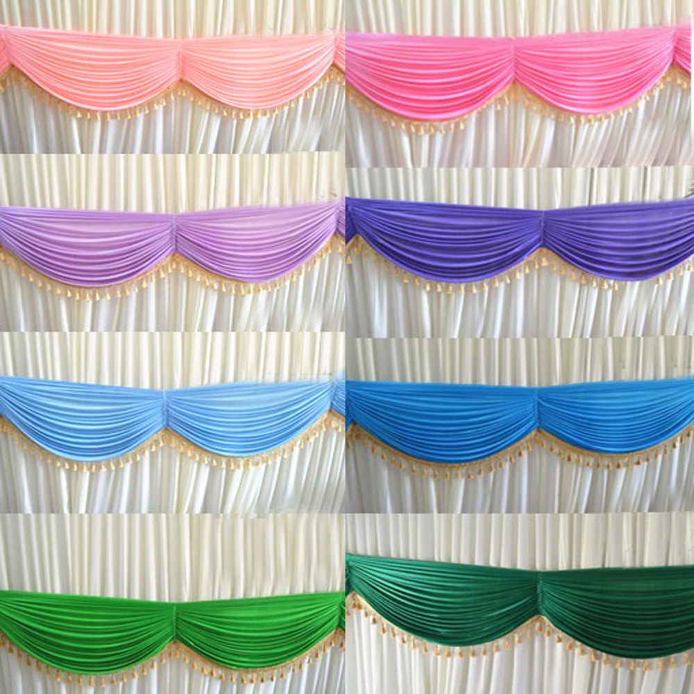 6M DIY tassel Table Swags for Wedding Event Party Backdrop Detachable Banquet baby shower valentines day Decor curtain swags