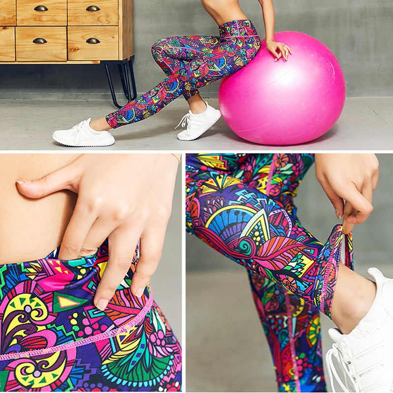 Pantalones de Yoga para mujer, mallas ajustadas con estampado de alta elasticidad para correr o deportes, ropa de gimnasio, mallas deportivas para mujer