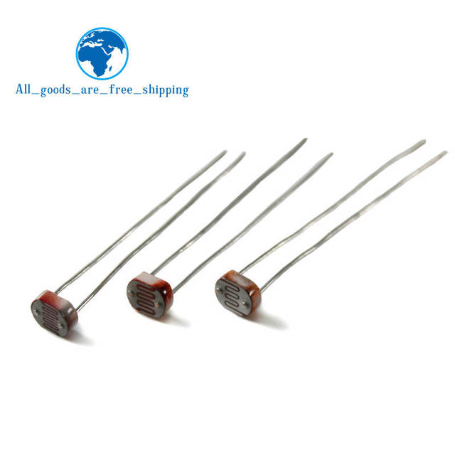 20PCS  LDR Photo Light Sensitive Resistor Photoelectric Photoresistor 5528 GL5528 5537 5506 5516 5539 5549 For Arduino 3