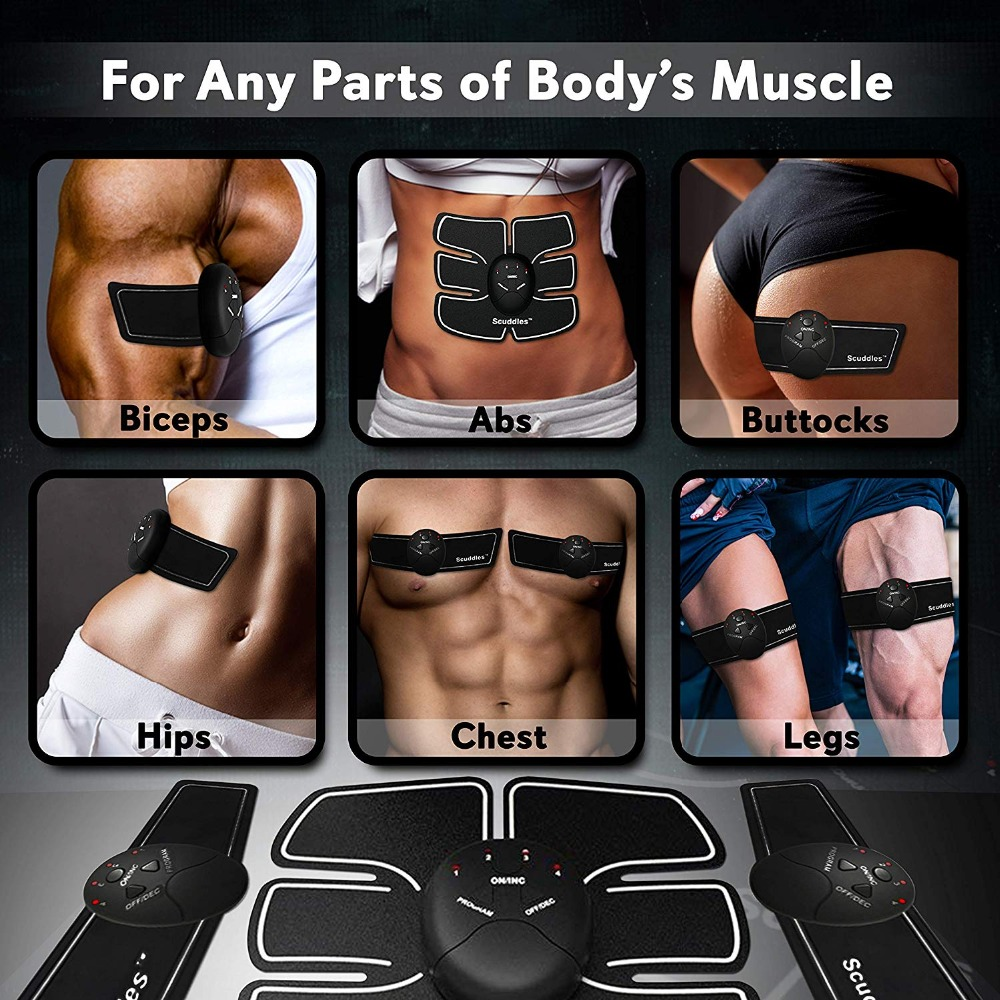 Slimming Fat Burning Exerciser Electric Muscle Training Gym Smart Fitness Muscle Stimulator Abdominal Tool Muscle Stimulator 3