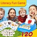 Английское Слово IQ Puzzle Игрушки для детей Раннего Обучения Монтессори Учебное Грамотности Забавная Игра Детские письма карты Машинного обучения