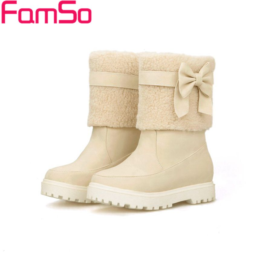 Plus Size34 43 2016 New Sexy font b Women b font Snow boots Designer Platforms fur