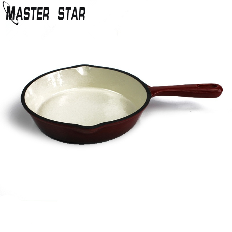 Master Star 19.5cm Non-coating Cast Iron Frying Pans General Use For Gas Induction Cooker Health Kitchen Tools