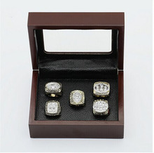 Gorgeous Ring sets with Wooden Boxes Replica Super Bowl Copper High Quality 5pcs/Packs San Francisco 49ers Men Championship Ring