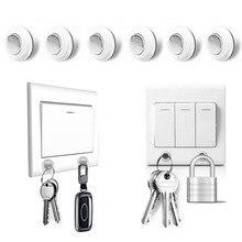 6 шт. настенный крепкий магнит магнитный держатель для ключей Органайзер ключница настенный держатель для ключей настенная вешалка