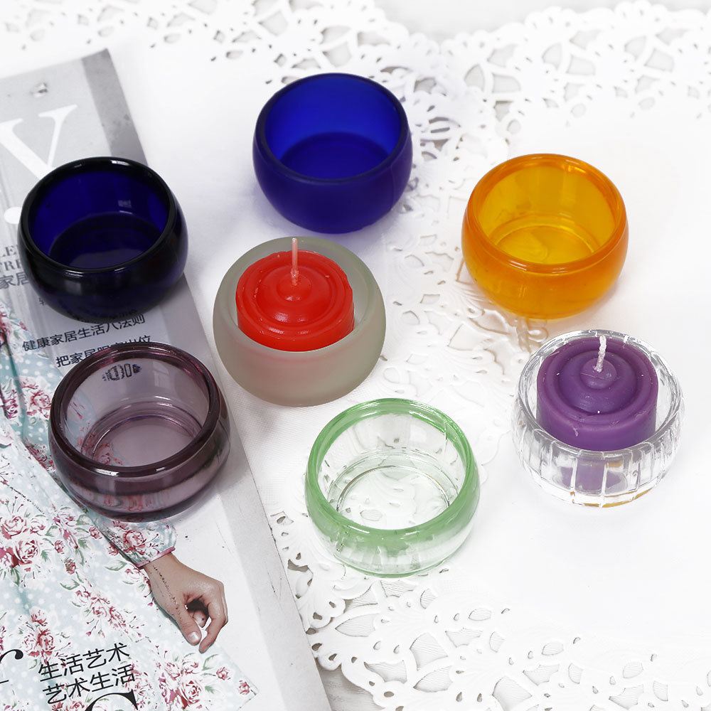 Votive Glass Candlestick Color Glass Candle Holder Cheap ...