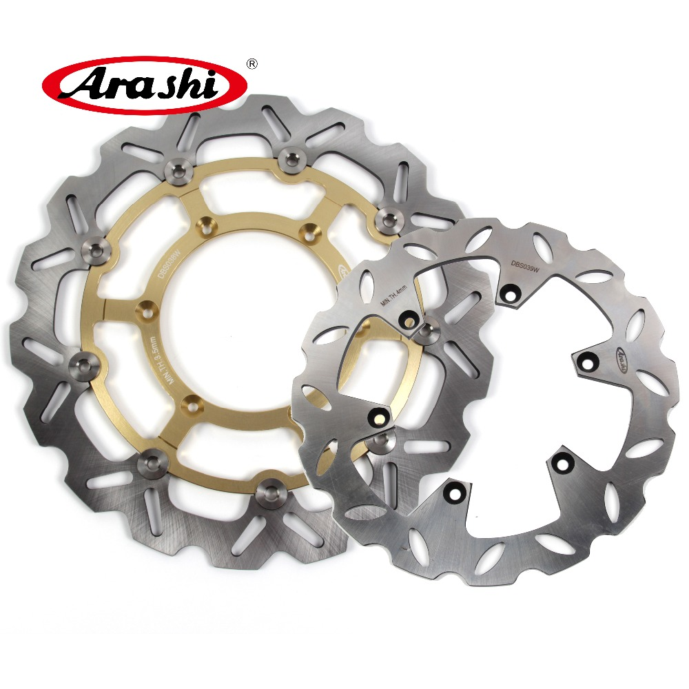 Arashi Front Rear Brake Discs Rotor for SUZUKI DRZ400SM 2005-2009 Motorcycle Replacement Accessories DRZ 400 DRZ400 SM 400SM Gold 2006 2007 2008