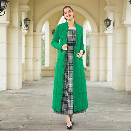 Espace 2018 X Long Femmes Plus Parkas long Vert D'hiver Manteau Dz8059 Pleine Coton Veste Maxi V Pardessus Taille Solide Longueur cou rqZZx0IwC
