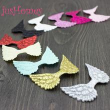 100pcs Sparkle Glitter Embossed Angel Wings Fabric Cutouts Cupid Wing for Baby  Doll Making e998b4e8ad88