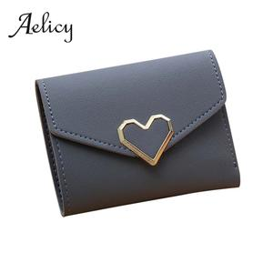 Aelicy Thin Wallet Female Women Students Money Slim Mini Korean Casual Short Solid Square