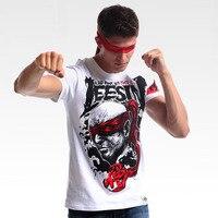 Ink Printing LOL Lee Sin Skeleton T shirt Men Boy White xxxl Plus Size Tee Shirts Cool