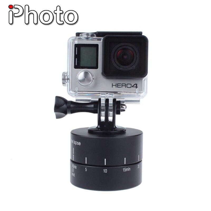 Mécanique Panoramique 360 Degrés Panorama Tir Portable Tilt Tête pour GoPro 5 4 3 + 3 2 Sjcam Xiaoyi Sport Caméra Enregistrement Vidéo