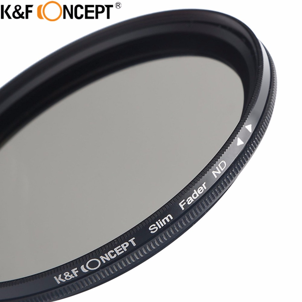 K & F CONCEPT ND2-ND400 37MM Slim Fader Variable ND2 ND400 laras ND Neutral Density Filter Lens + Microfiber Cleaning Cloth