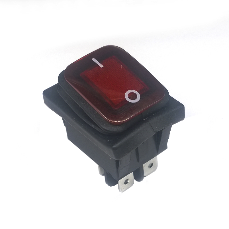 1pcs KCD4 Red LED Round 4 Pin DPST Snap-in ON/OFF Panel Mounting Waterproof Boat Rocker Switch 16A/250V High Quality Copper feet 2pcs lot red 4 pin light on off boat button switch 250v 16a ac amp 125v 20a