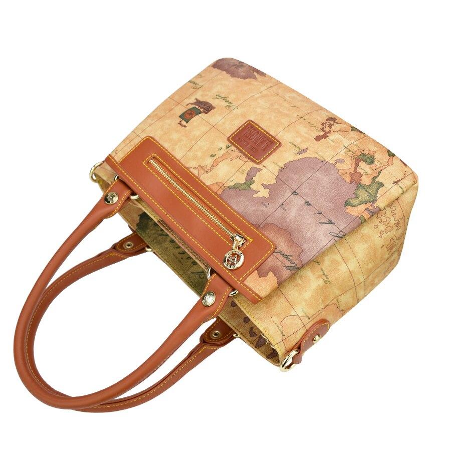 Haute qualité carte du monde femmes sac mode femmes messenger sacs spécial sac à main marque designer sac à bandoulière rétro sacs d'école - 6