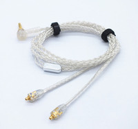 ALO Litz Four core silver plated copper wire earphone upgrade line headset headphone Cable For Shure se535 se846 Westone w60