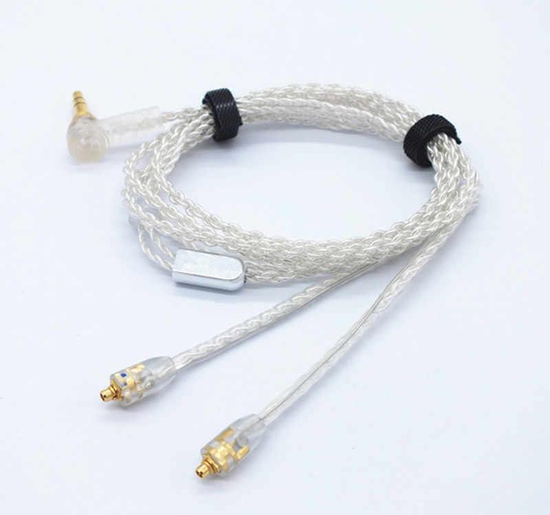 ALO Litz cztery podstawowe posrebrzana miedź drutu słuchawki uaktualnić linii zestaw słuchawkowy słuchawki kabel do Shure se535 se846 Westone w60